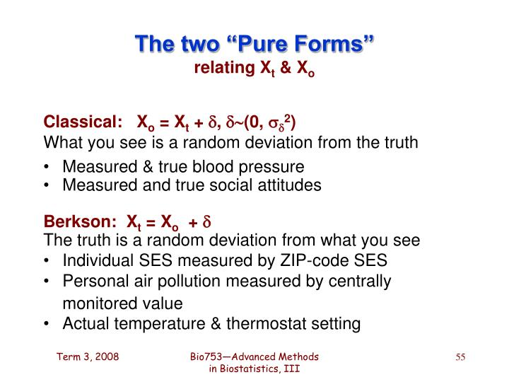 """The two """"Pure Forms"""""""
