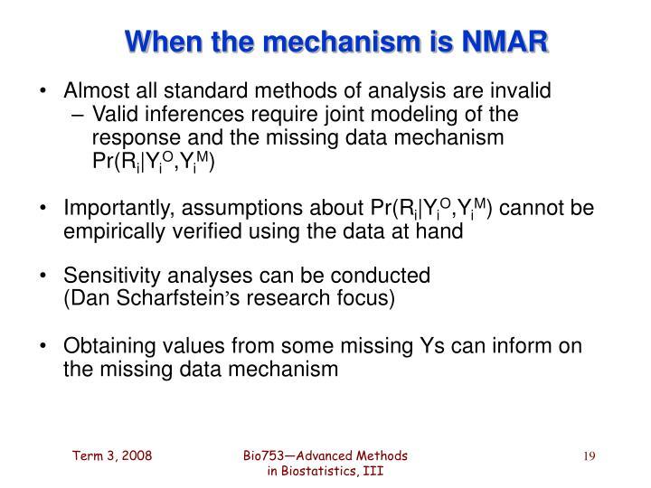 When the mechanism is NMAR