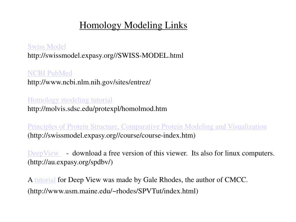 Homology Modeling Links
