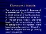dicoumarol warfarin