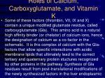 roles of calcium carboxyglutamate and vitamin k