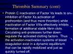thrombin summary cont
