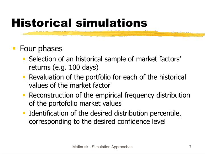 Historical simulations