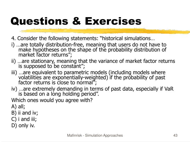 Questions & Exercises