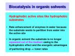biocatalysis in organic solvents17