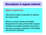 biocatalysis in organic solvents23