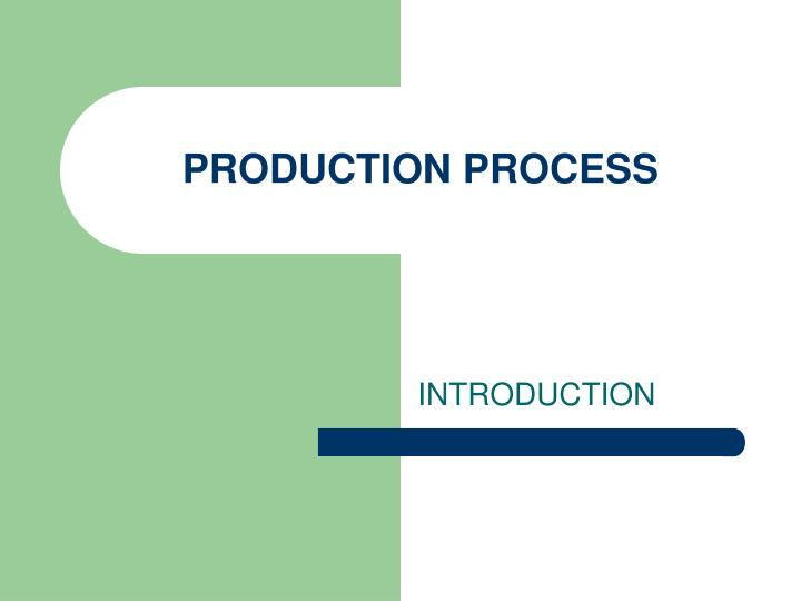 production process n.