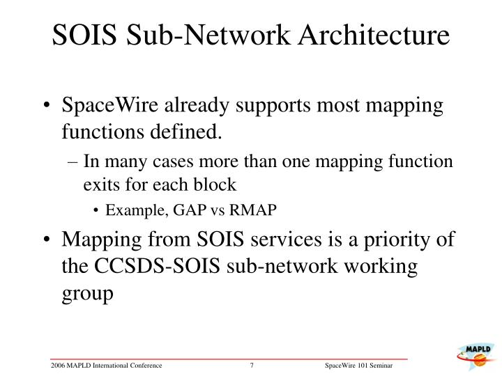 SOIS Sub-Network Architecture