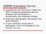 asbmb graduation survey