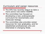 curriculum and career resources