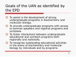 goals of the uan as identified by the epd