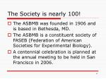the society is nearly 100