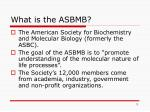 what is the asbmb