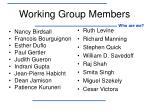 working group members1