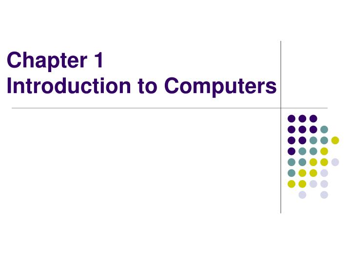 introduction to the world of computers Atlas was the fastest computer in the world at the time and introduced to introduce interested adults to the world of computers introduction, it was listed as.
