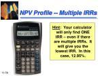 npv profile multiple irrs1