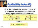 profitability index pi