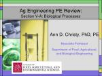ag engineering pe review section v a biological processes