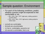 sample question environment