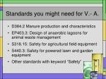 standards you might need for v a