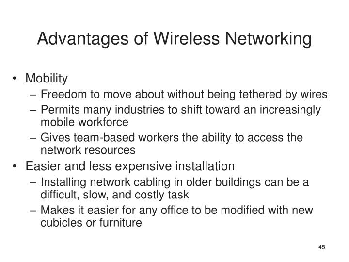 Advantages of Wireless Networking