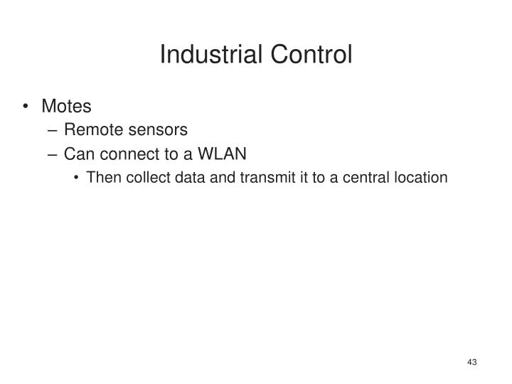 Industrial Control