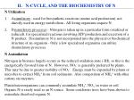 ii n cycle and the biochemistry of n