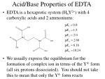 acid base properties of edta
