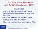 11 7 what is the secondary and tertiary structure of rna