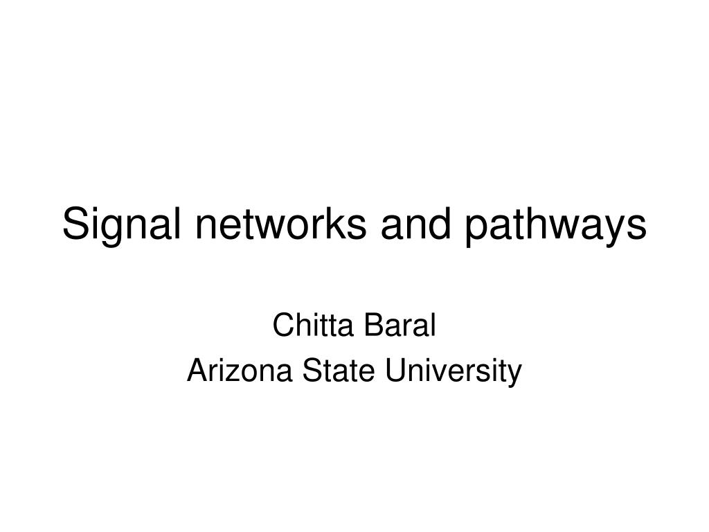 signal networks and pathways l.