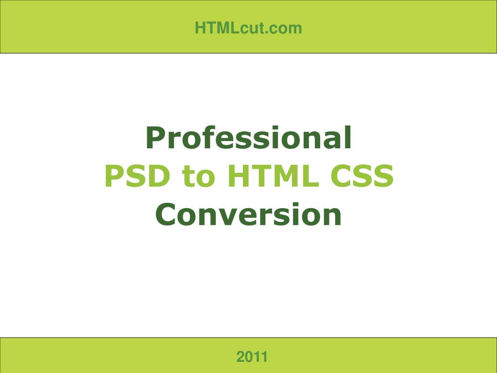 professional psd to html css conversion l.