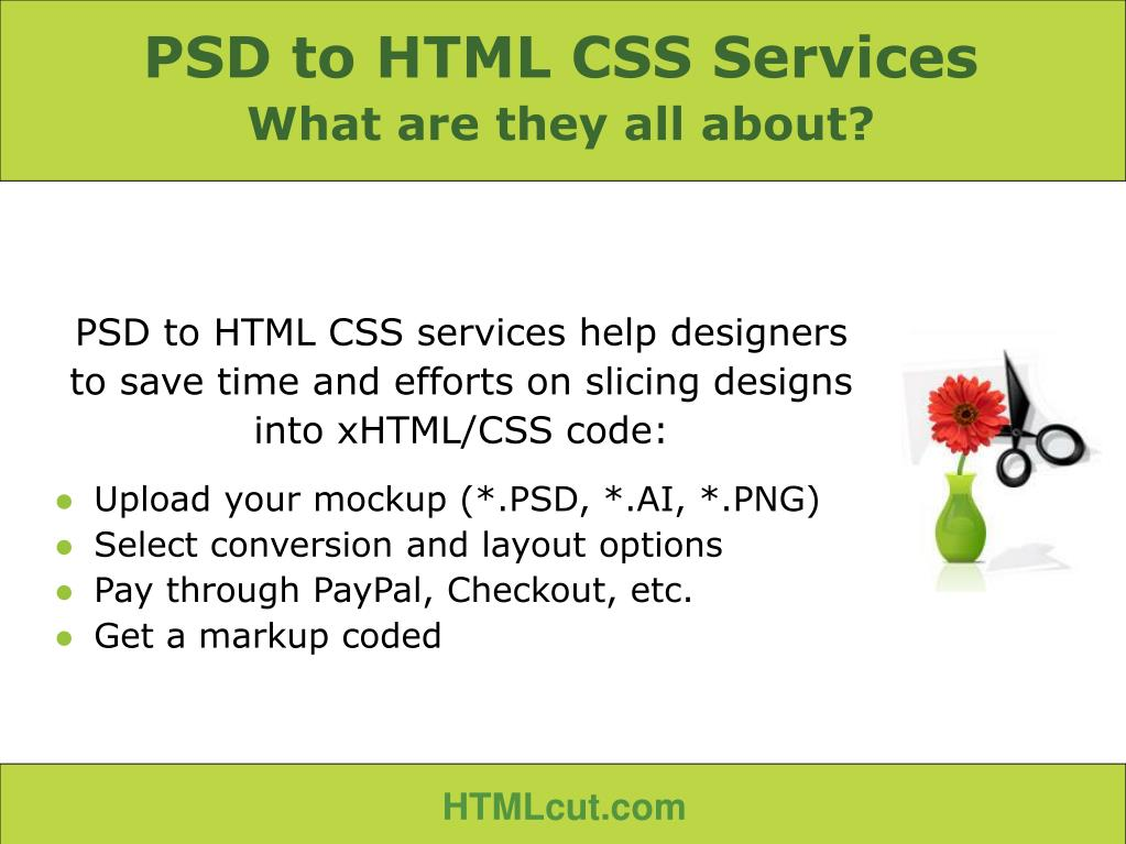 PSD to HTML CSS Services