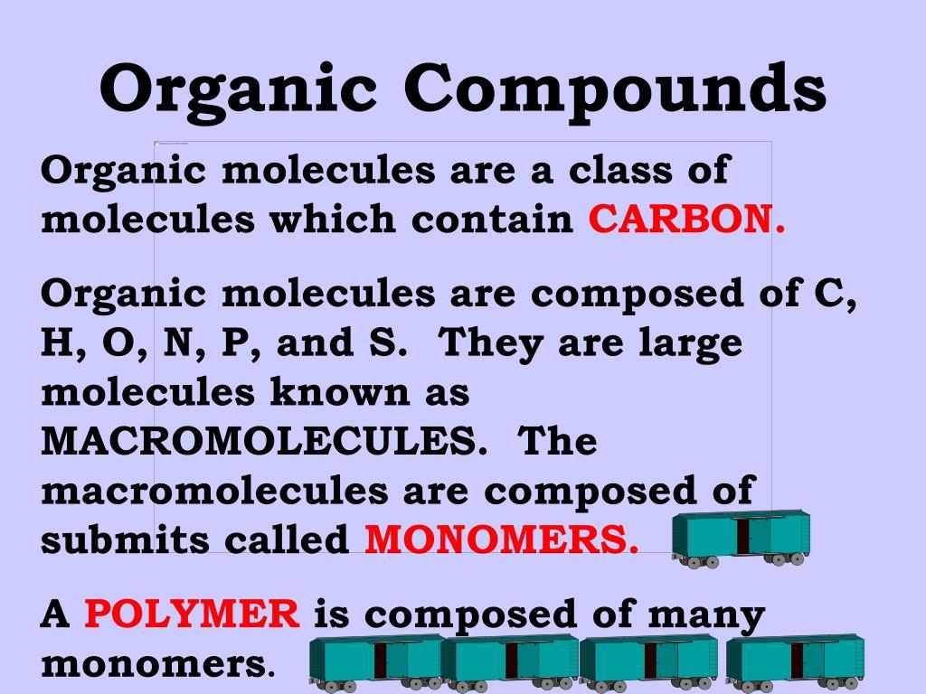 organic compounds l.