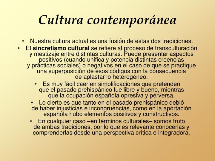 Cultura contemporánea