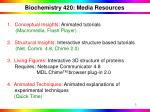 biochemistry 420 media resources