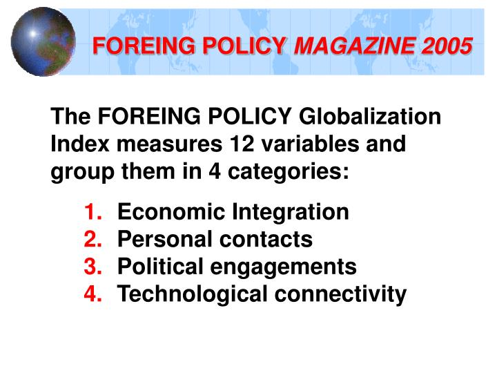 FOREING POLICY