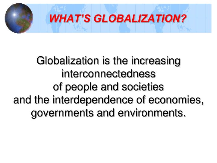 What s globalization