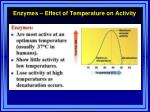 enzymes effect of temperature on activity