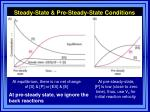 steady state pre steady state conditions