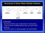 structures of some water soluble vitamins