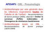 afssaps orl pneumologie
