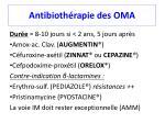 antibioth rapie des oma