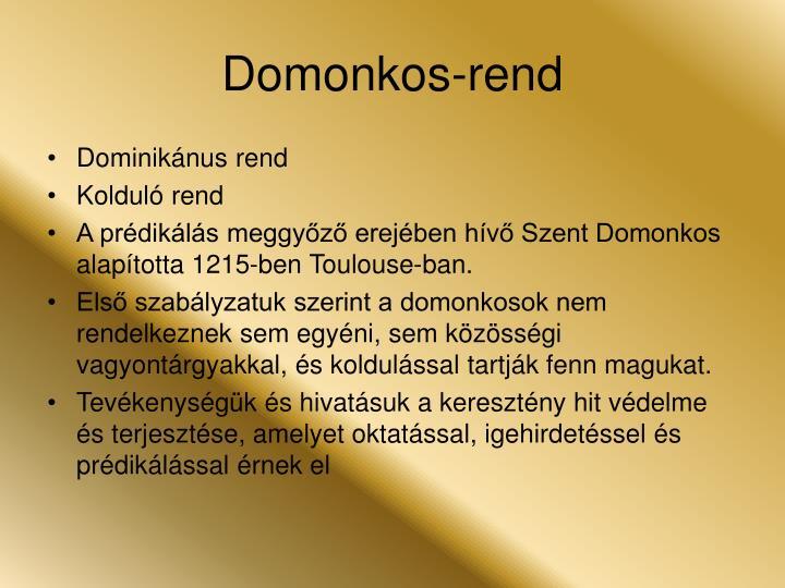 Domonkos-rend