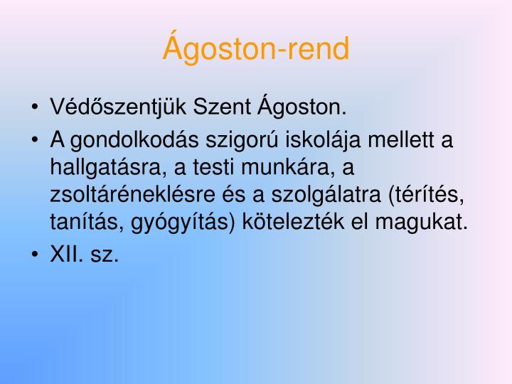 Ágoston-rend