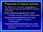 properties of optical isomers