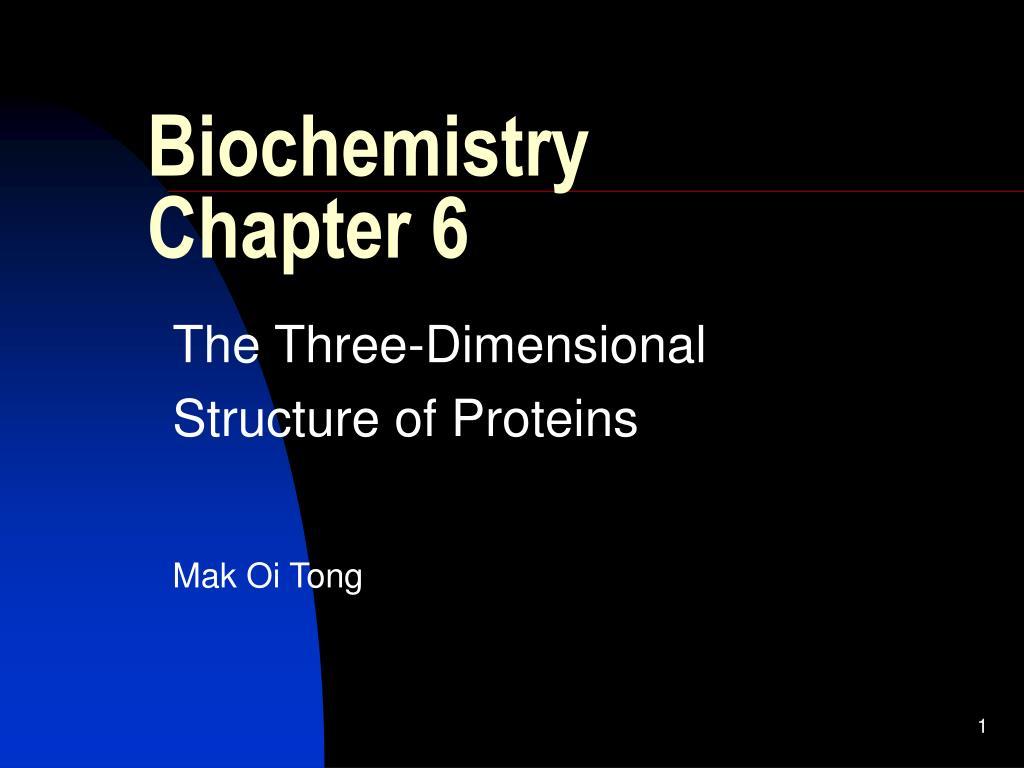 biochemistry chapter 6 l.