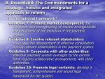 b dreamland the commandments for a strategic holistic and integrated approach to reform22