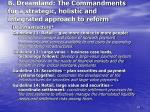 b dreamland the commandments for a strategic holistic and integrated approach to reform23
