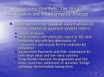 d overcoming shortfalls the world bank role in the transformation process33