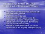 d overcoming shortfalls the world bank role in the transformation process34
